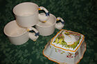 Vintage 1988 (3) House Of Lloyd White Goose Large Soup/Coffee Mugs/Planters