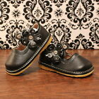 Black w Flower Girl Mary Jane Toddler Squeaky Shoes Sizes 3 4 5 6 7 8 9