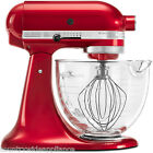 KitchenAid 5Qt Glass Bowl Designer Series Stand Mixer Candy Apple Red KSM155GBCA