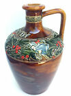 DOULTON LAMBETH, G.W. SCOTT & SONS, BRANDY WHISKEY, STONEWARE QUART FLASK JUG