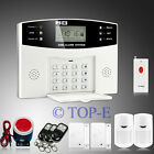 LCD Wireless&wired GSM SMS Home Security Alarm System Panic Button+PIR Sensor