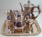 Vintage Silverplate Coffee/Tea Service Wilcox Quadruple BC 4593 Meriden Conn