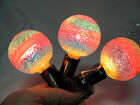 3 Vintage Very Rare Rainbow Snowball Lighted Ice Bulbs Sugar Snowball Japan