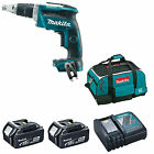 MAKITA 18V DFS452 DRYWALL SCREWDRIVER 2 BL1840 BATTERIES DC18RC CHARGER