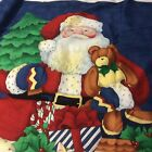 Night Before Christmas Wall Door Hanging Sofa Throw Lap Quilt100% Cotton Panel