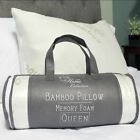 Sweet Home Hypoallergenic Bamboo Memory Foam Pillow Queen 2 Pack w Carry Bag