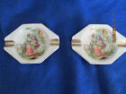 2 VINTAGE PORCELAIN ASH TRAYS GERMANY HAND PAINTED