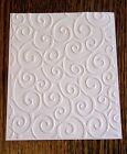 DIVINE SWIRLS Embossed Card Stock Set of 12 Sheets A2 CARD Size