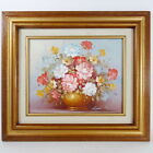 Robert Cox Original Oil on Canvas Signed Fine Art Still Life Floral 13 x 15 Inch
