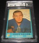 1962-63 Topps Dave Balon Signed Rookie Card BGS 4 JSA 9 Auto RC Rangers