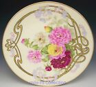 OVINGTON BRO'S NEW YORK LIMOGES HAND PAINTED DALIA FORGET ME NOT PLATE SIGNED