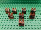 Lego Reddish Brown Mini Figures Legs And Hip Body Part X8 (jack Sparrow Pants)