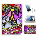 ( For iPad mini 4 ) Flip Case Cover! P0626 Abstract Beach