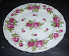 Vintage LEFTON CHINA Hand Painted Porcelain Plate W/ All Over Pink Roses #675 R