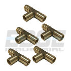5 Pieces 1 2 HOSE BARB TEE Brass Pipe 3 WAY T Fitting Gas Fuel Water AIR