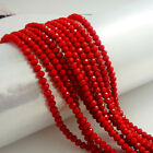 New Red Jade Faceted 100pcs Chinese Rondelle exquisite crystal 3x2mm Beads