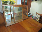 ANTIQUE SLANT FRONT WAVY GLASS COUNTRY STORE DISPLAY CASE OR SHOWCASE