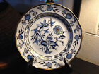 Meissen Dinner Plate Blue Onion Gold Gild floral on White, Hand Painted 1 of 4