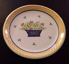 Blue on White Flower Basket LUNCHEON  PLATE PORTUGAL