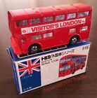 RARE TOMICA LONDON BUS No.F15 VISITOR'S LONDON 55p ENGLAND VINTAGE MADE IN JAPAN