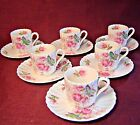 Beautiful SPODE DUBARRY Hand Painted 6 DEMITASSE Hand Painted CUPS