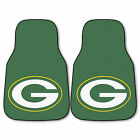 Green Bay Packers Carpet Vinyl Floor Mats 2 4 Pc Sets Cars Trucks Suvs