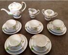 Vintage Hand Painted 18 Piece Japanese Tea Coffee Set Geisha