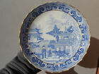 Old Antique 19th C Miles Mason Blue Willow Round Low Bowl 7 1/4