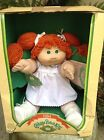 Vintage 1984 Cabbage Patch Doll Coleco Red Hair Green Eyes NIB Adopt.Papers VGC