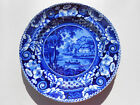 Old Antique Historical Staffordshire Dk Blue Hollywell Cottage Cavan Riley Plate