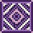 Easy Quilt Kit/Diamond Cut/Pre-cut Fabrics Ready To Sew/Purple Scrappy/QUEEN