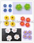 Wholesale 20pcs Resin Sun flower flatback Scrapbooking for Wedding Crafts Beads