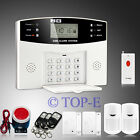 wired GSM SMS Home Security Alarm System Panic Button+PIR Sensor