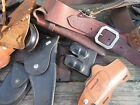 Vintage Leather Holster Ammo Holder Possibles Pouch Lot