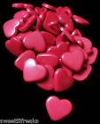 12 SMALL RED HEART BUTTONS! LOVE ROCKABILLY WEDDING CRAFTS SCRAPBOOKING SEWING