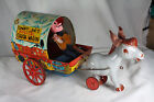 Vintage 1951 Mattel Tin Cowboy Joe's Musical Chuck Wagon toy #439 Vibrant Litho!