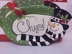Fitz and Floyd Frosty's Frolic Sentiment Tray Snowman Christmas Read Description
