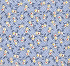 Daisy Blue Reproduction Quilt Fabric - 1 Yard