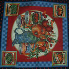 4 Panel Fruits and Vegetables 100% Cotton Yardage with Border