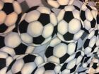 Soccer football fleece fabric 60 wide sold by the yard