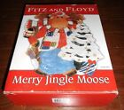 FITZ AND FLOYD MERRY JINGLE MOOSE CANAPE PLATE
