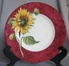 Salad Plate Fitz & Floyd Just Us Chicks Pattern Red - New
