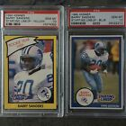 1990 Kenner Starting Lineup Barry Sanders Yellow And Blue Version Psa Gem Mt 10