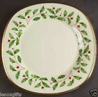 LENOX HOLIDAY Gold  square DINNER PLATE NEW  made in USA