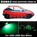 LED Kit Gauge Cluster Dash Indicator Green Lights Bulbs for 1995 1997 Geo Metro