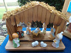 MUSICAL SILENT NIGHT REVOLVING MANGER NATIVITY SET  HOUSE OF LLOYD W/BOX