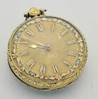 18K Solid Gold VERGE Gold Dial Pocket Watch 45mm