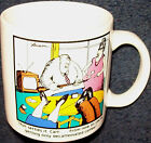 1980 LARSON THE FAR SIDE COFFEE CUP DECAFINATED MUG Vintage 8 oz.