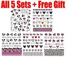 5 sets Mickey Minnie Mouse Disney Water Slide Transfer Nail Sticker Decals Set U