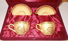 Goldini Limited Edition Gold Encrusted Set of Cups and Plates - Valentine's Day